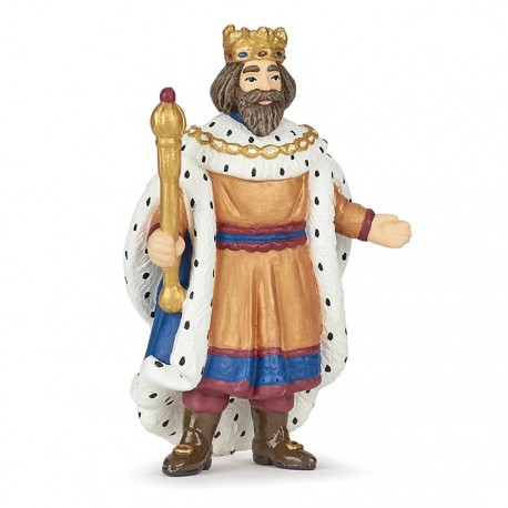 King with gold sceptre