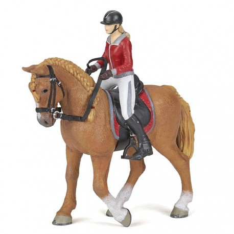 Walking horse with riding girl NEW2021