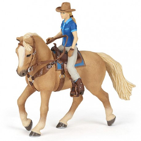 Wild west horse and cowgirl NEW 2021