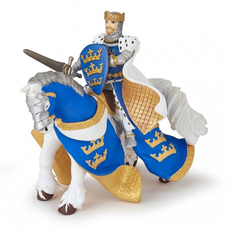 Cheval du roi Arthur bleu NEW2021