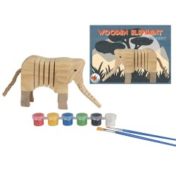 ELEPHANT EN BOIS A PEINDRE 20 X 14 X 5 CM
