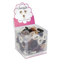 Small swirlyDo hair ties of 144 units.  (2) Neutral