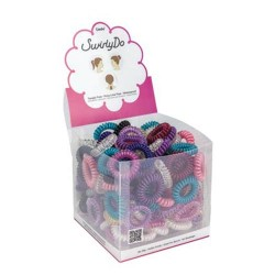 Small swirlyDo hair ties of 144 units. (10) Bright