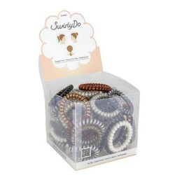 Big swirlyDo hair ties of 72 units   (1) Neutral