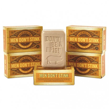 "Barre de savon ""Men Don't Stink"" 8 oz"