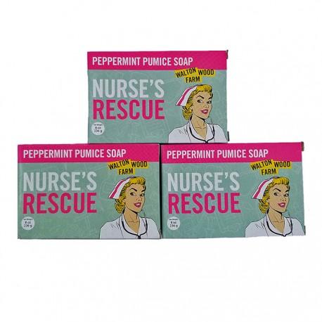 Nurse's Rescue Collection Pmint Pumice Soap Bar 8oz