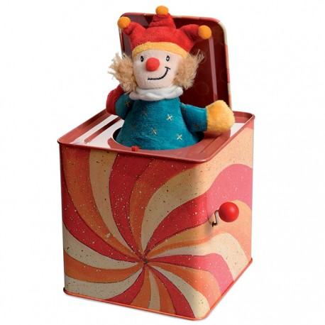 Joker sur ressort en boite rouge
