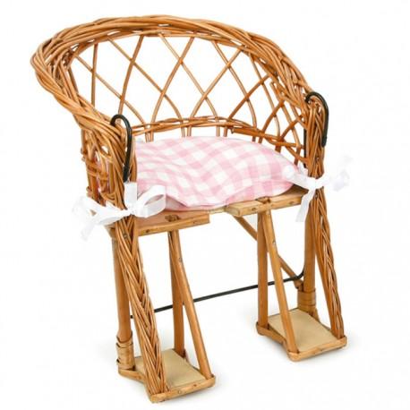 BIKE SEAT FOR DOLL + PINK CUSHION