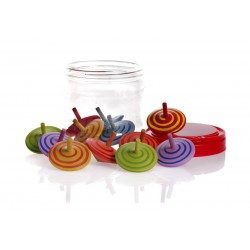 12  WOODEN TOPS ASSORTED