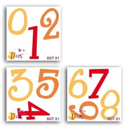SET 3 D'COS MATHILDA NUMBERS