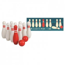 WOODEN BOWLING GAME