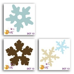 SET 3 D'COS SNOWFLAKES