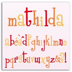 D'CO SET ALPHABET MATHILDA