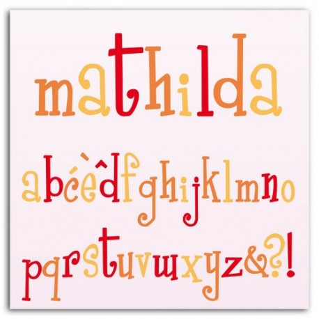 D'CO SET MATHILDA ALPHABET