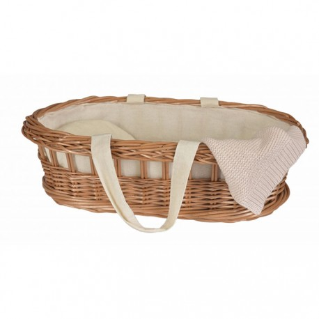 WICKER CARRY COT