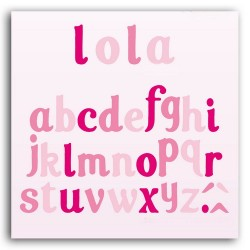 D'COS SET ALPHABET LOLA 10 DIES