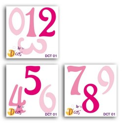 SET OF 3 D'COS LOLA NUMBERS