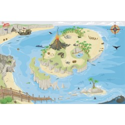 Pirate playmat 80 x 120 cm