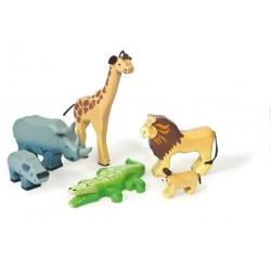Ensemble d'animaux sauvages de la Savane