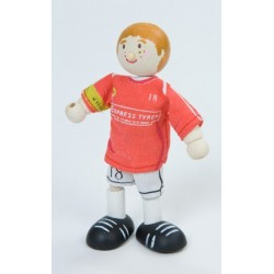 Joueur de soccer (rouge) No 18