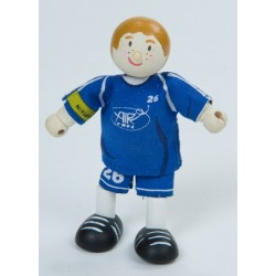 Joueur de soccer (bleu) ***