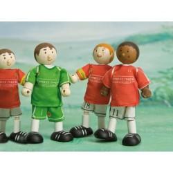 Joueur de soccer (rouge) No 5