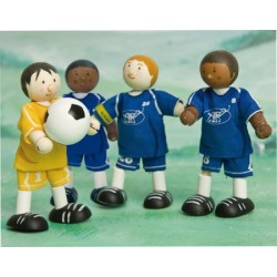 Joueur de soccer (bleu) No 8