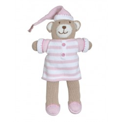 "Bear Pajamas 7"" Pink"