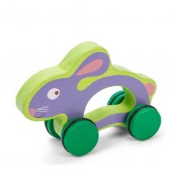 Martin le lapin sur roues