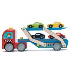 Camion de transport de voitures de course