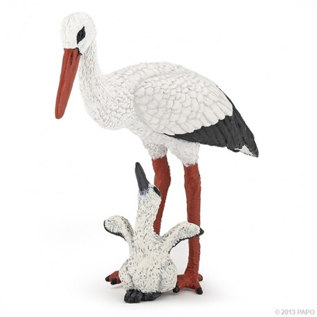 Stork and baby stork