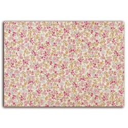 ADHESIVE FABRIC 21X29.7CM - THOUSAND FLOWERS P/Y/B