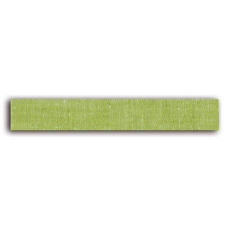 ADHESIVE FABRIC RIBBON 5M - LINEN GREEN