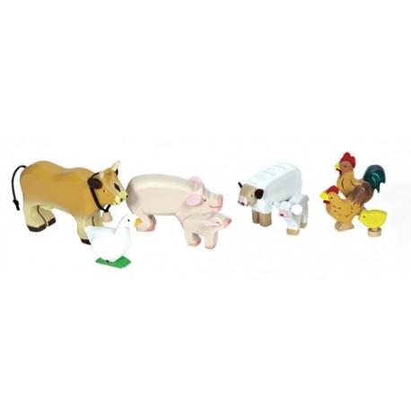 Ensemble d'animaux de la ferme