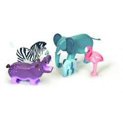 Ensemble d'animaux sauvages de la Zambésie