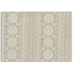 ADHESIVE FABRIC 21X29.7CM - LINEN LACE
