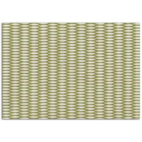 ADHESIVE FABRIC 21X29.7CM - BAMBOO GREEN & WHITE