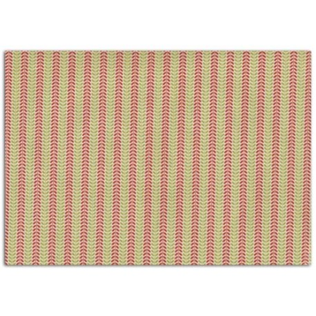 ADHESIVE FABRIC 21X29.7CM - RED & GREEN LEAVES