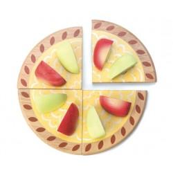 Tarte aux Pommes en Bois