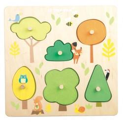 Puzzle Petits Arbres et Animaux des Bois
