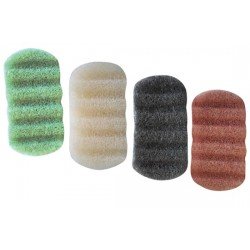 Lindo Konjac Sponge-body (31) Assorted: Black, pink,