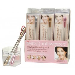 Lindo Twist-n-roll Tweezers Metallic in displaybox