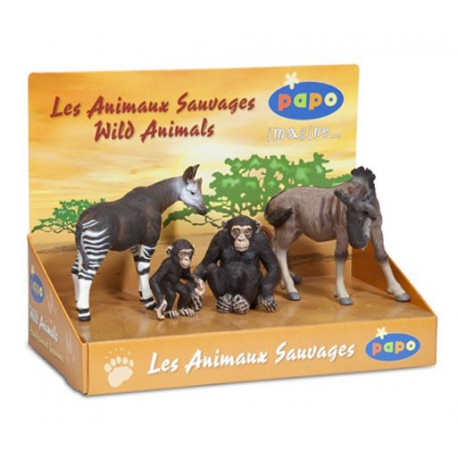 DISPLAY BOX WILD ANIMALS 1 (4 FIG.)