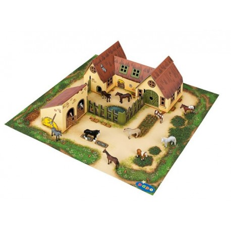 Farm and stable (cardboard)
