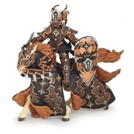 araignée noire et son cheval
