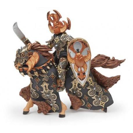 Guerrier scarabée noir et son cheval***