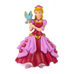 Princesse rose à l'oiseau