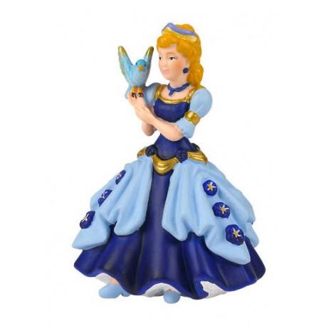 Princesse bleue à l'oiseau