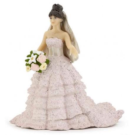 Mariée dentelle rose