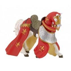 Cheval drapé rouge retraité